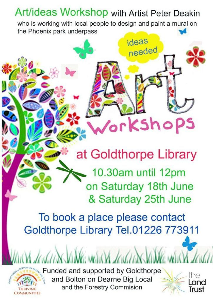 Art Workshop Poster Goldthorpe Library