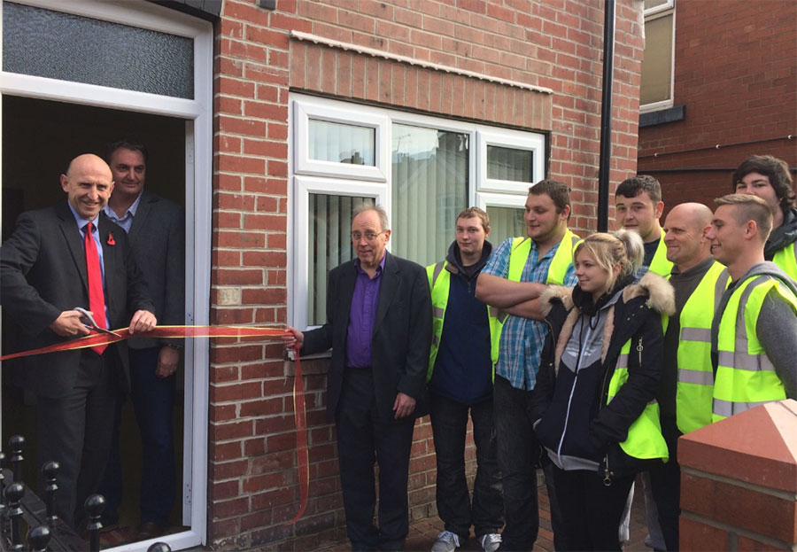 Dearne Community Housing - John Healey Cuts Ribbon