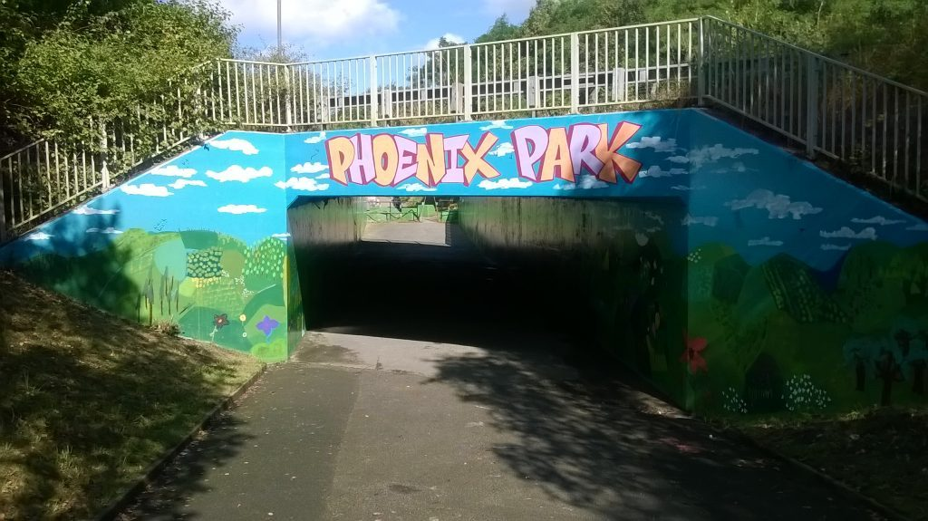 Goldthorpe Bolton Big Local - Phoenix Park Mural Complete
