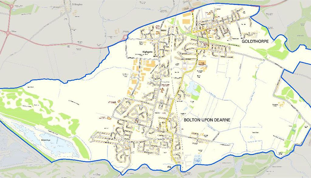 Goldthorpe Bolton Big Local Map Goldthorpe Bolton On Dearne