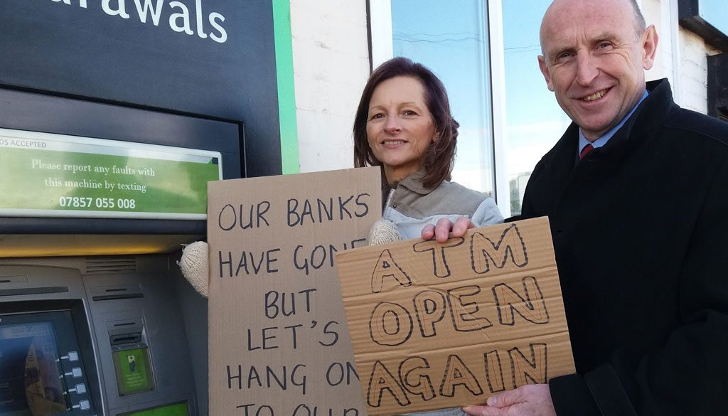 MP Gives Backing as Petition Saves Cash Machine